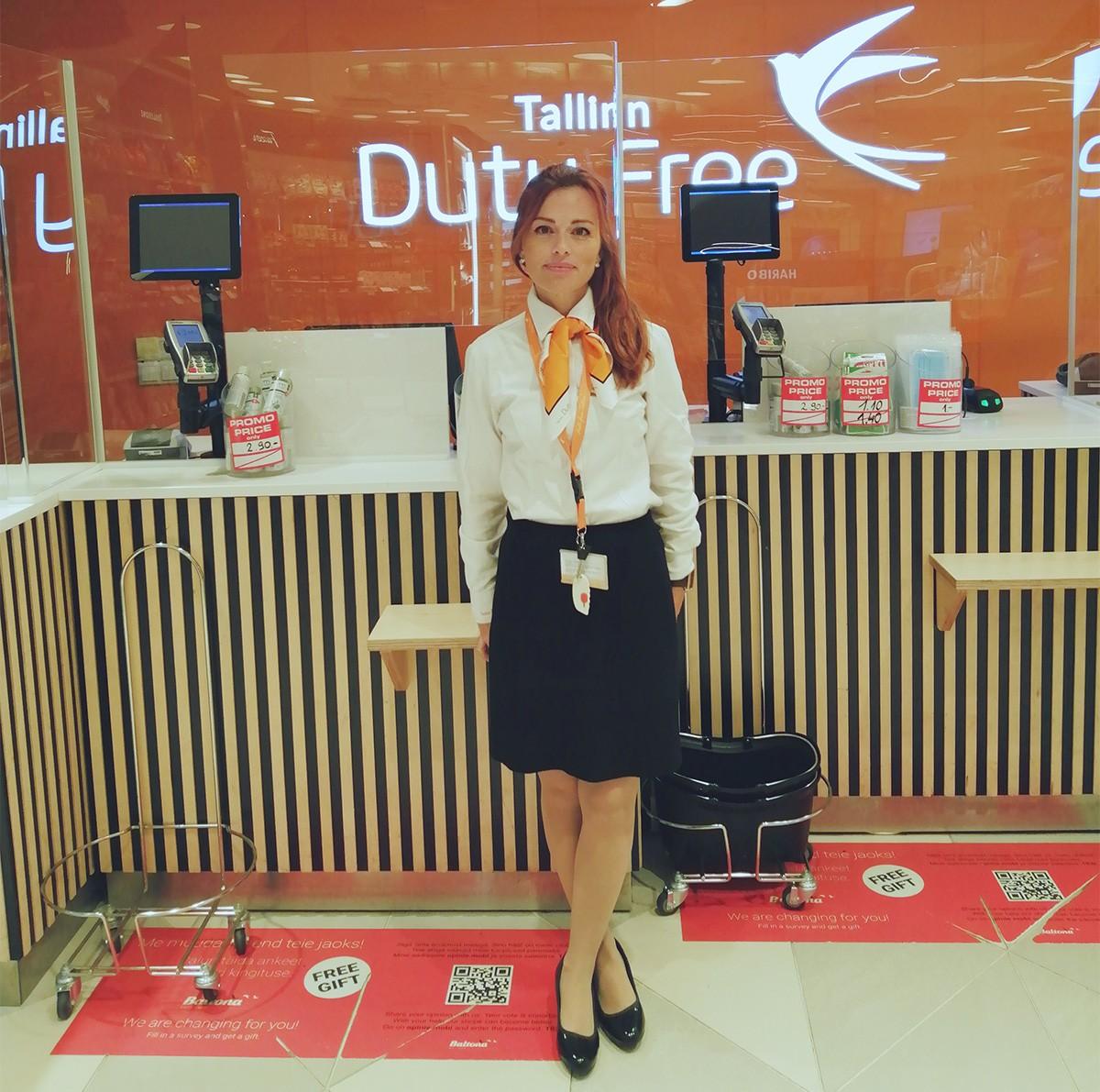 Núria Alonso Masferrer treballa a l'aeroport de Tallinn (Estònia).